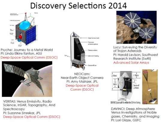 2014 Discovery mission selections