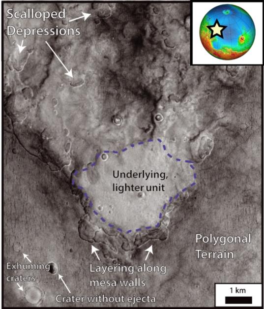 Morphologies in western Utopia Planitia