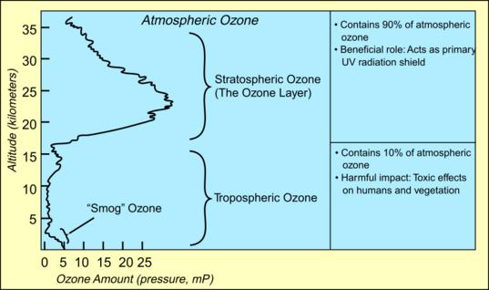 Types of atmospheric ozone