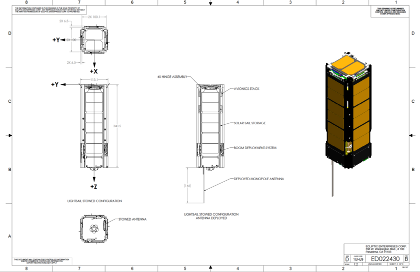 LightSail schematic sample