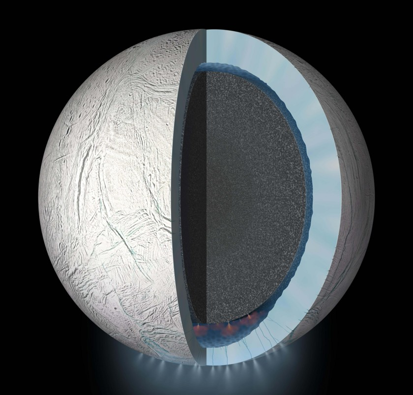 Enceladus' vents and plumes