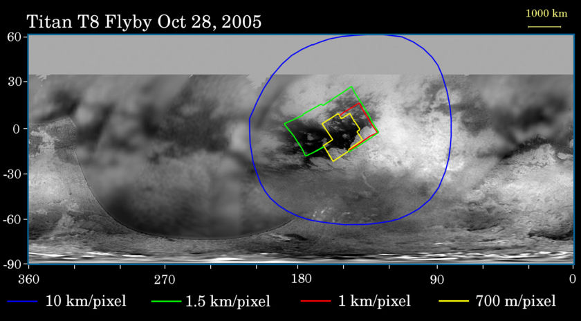 Imaging plan for Cassini's Titan-8 flyby