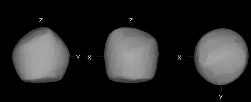Estimation of the shape of Ryugu