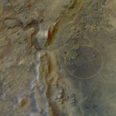 Mars 2020 landing ellipse in Jezero crater