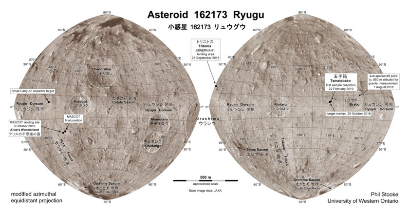 Ryugu surface map