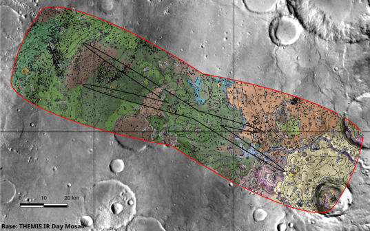 ExoMars 2020 Landing Map