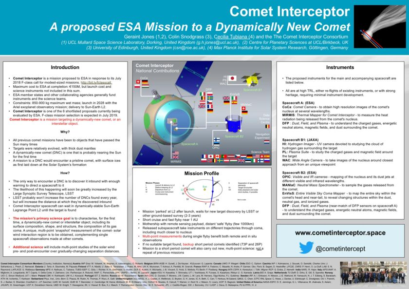 Comet Interceptor Poster for EGU 2019