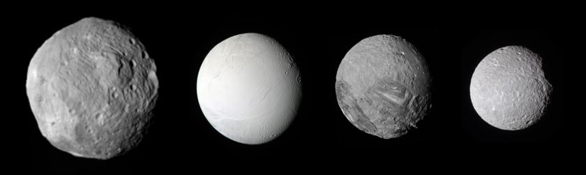 Vesta, Enceladus, Miranda, Mimas