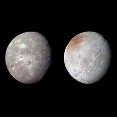 Oberon and Charon, compared