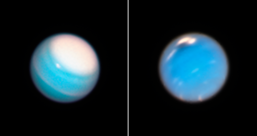 Hubble Images Uranus and Neptune in 2018