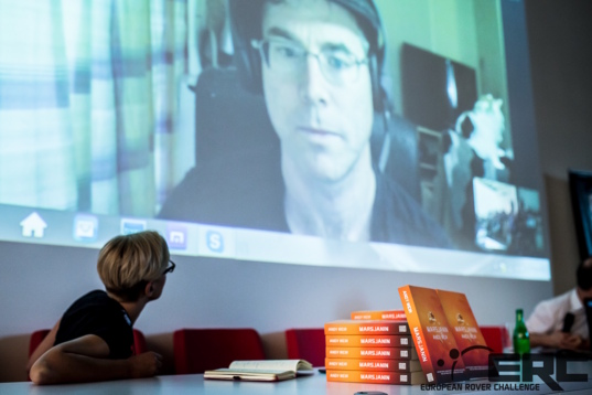 Online meeting with Andy Weir, author of <i>The Martian</i> novel