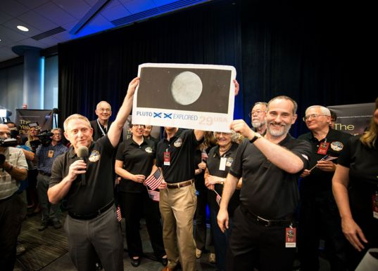 Alan Stern and New Horizons team celebrate historic Pluto flyby