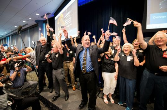 New Horizons Team Celebrates Historic Pluto Flyby