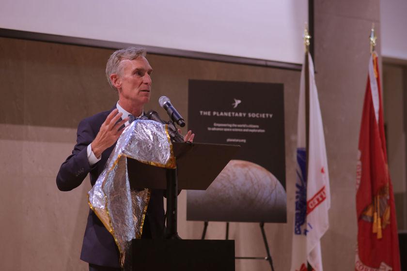 Bill Nye at the Australian Embassy