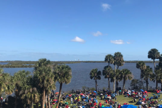 Falcon Heavy launch viewing site