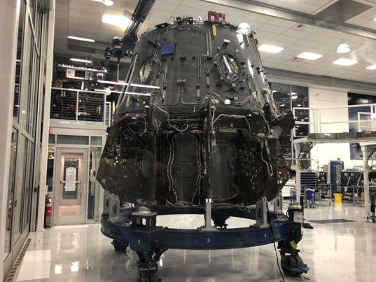 Crew Dragon capsule under construction