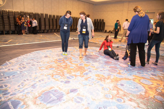 Giant Moon map at the 2019 Lunar and Planetary Science Conference