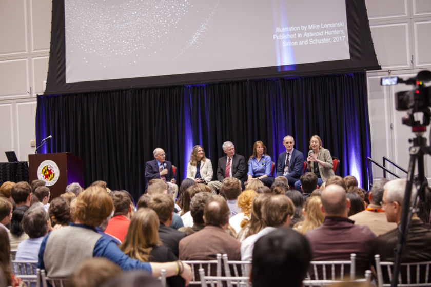 Planetary Radio Live panel at the Planetary Defense Conference (wide)