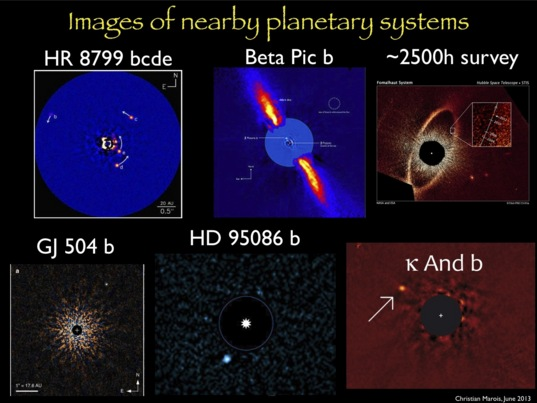 Images of nearby planetary systems