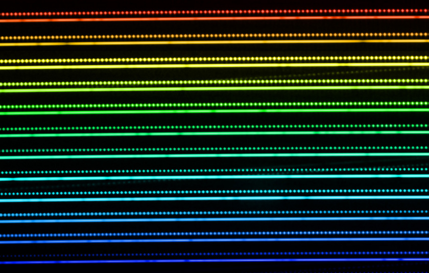 A sample laser frequency comb spectrum