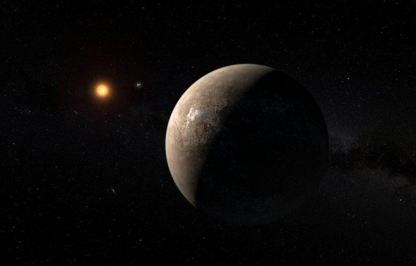 Artist's impression of planet Proxima Centauri b