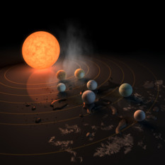 The TRAPPIST-1 system: Where might liquid water exist?