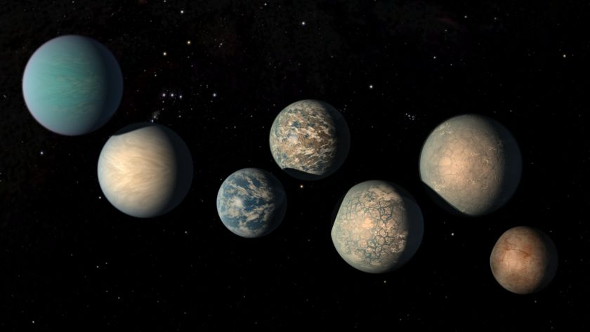 Trappist-1 system (artist concept)