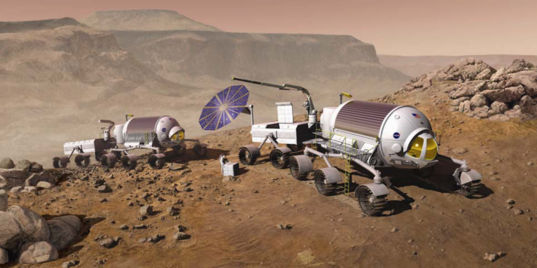 Pressurized rovers on Mars