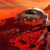 Humans exploring Mars (Artist concept)