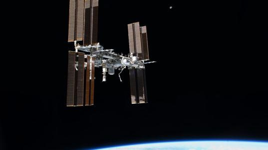 Wallpaper: International Space Station From the Final Shuttle Flight