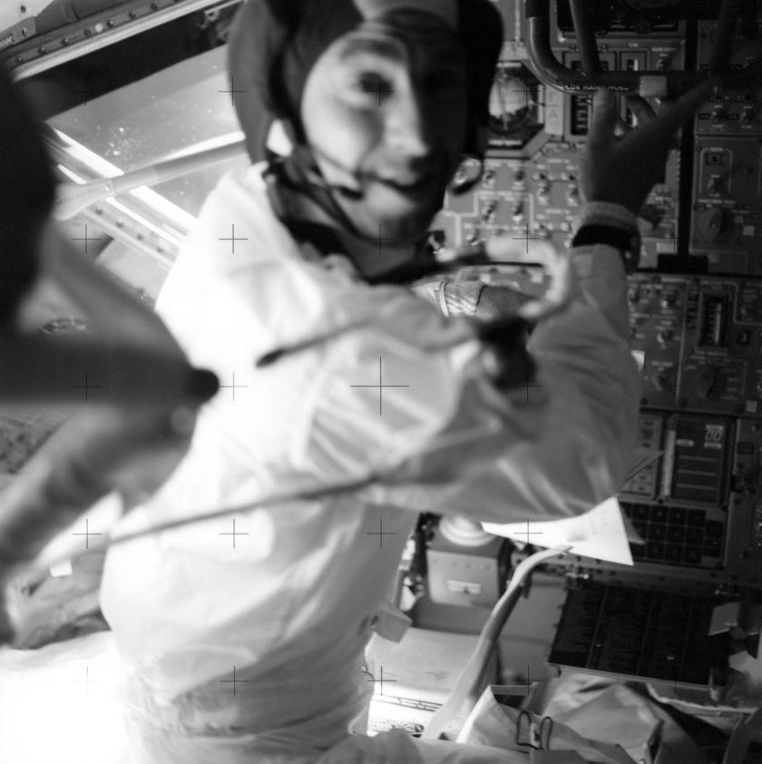 Jim Lovell in the Lunar Module