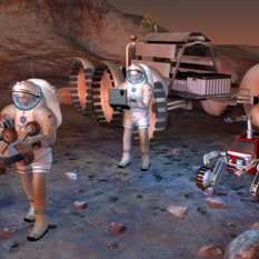 Humans on Mars (artist concept)