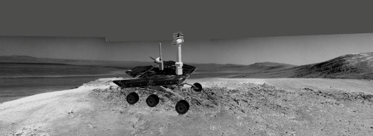 Simulated image of Opportunity parked at Greeley Haven