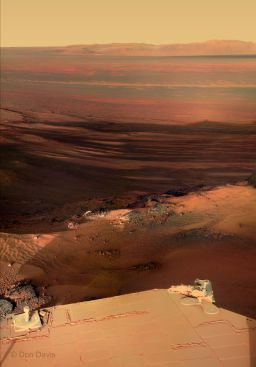 A sunset postcard from Mars