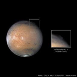 Mystery cloud on Mars