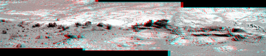 Finned outcrop in 3D