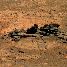 Fanned outcrop from Opportunity