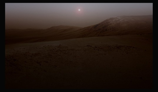 Another sol sets at Endeavour Crater