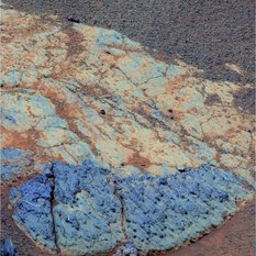 A Whitewater Lake rock in False Color