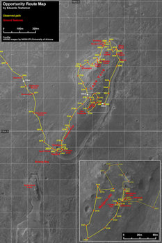 Opportunity route around Cape York