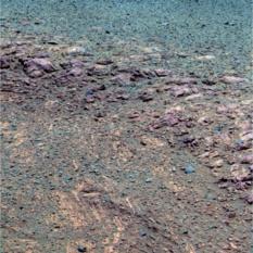The scarp in false color