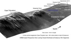 Endeavour Crater's west rim