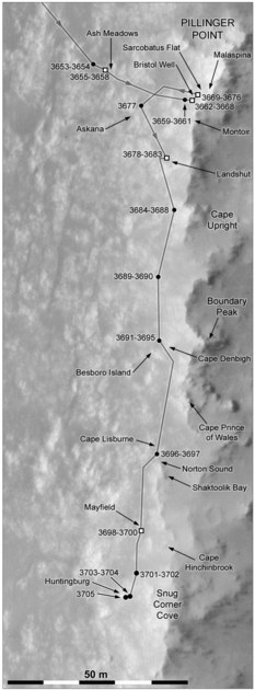 Opportunity's recent rovings