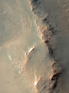 Opportunity's recent traverse route