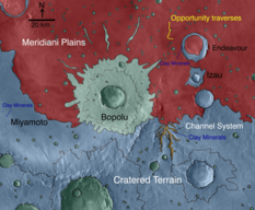 Geologic map of Meridiani Planum