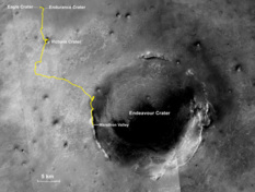 Opportunity's long and winding route