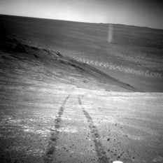 Dust devil imaged by Opportunity, March 2016