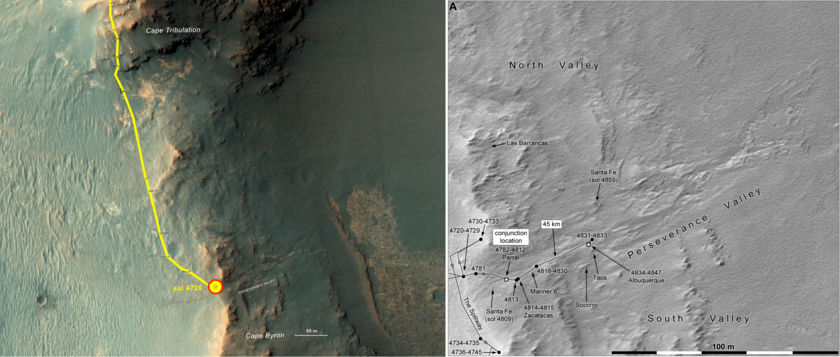 Opportunity's recent roves