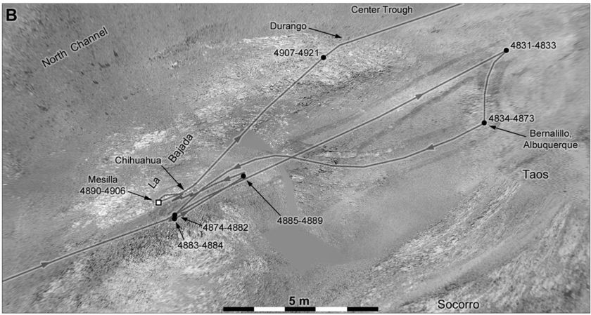 Route map of Oppy's recent roves
