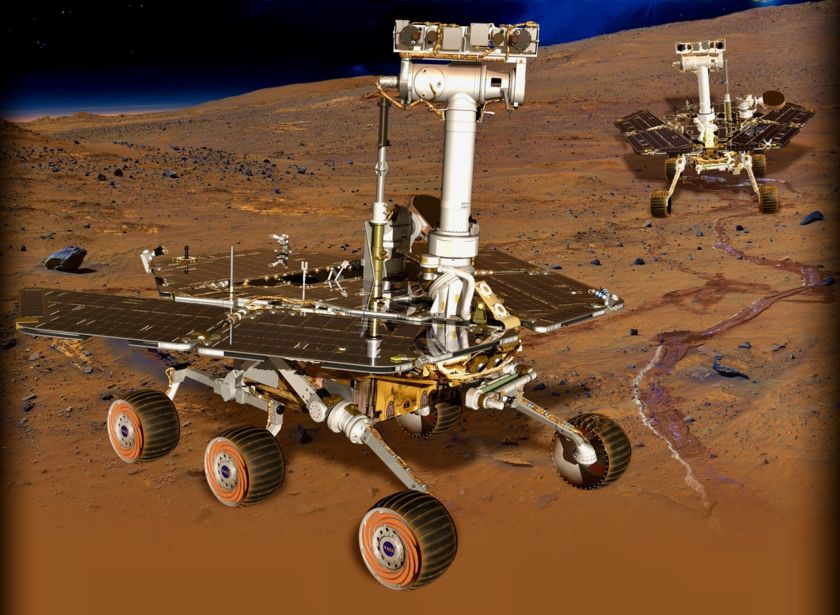 Twin rovers Spirit and Opportunity
